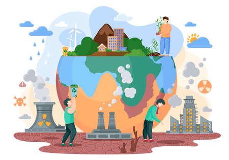 The planet Earth is a victim of society and it s way of life. Human makes the planet suffer from destroyed soils, acid rains, radiation emissions, polluted air, lack of waste processing plants