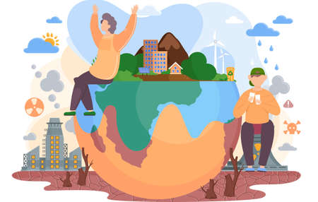 Planet Earth is suffers from human activity. The planet is destroyed because of the toxic waste factories, explosions, deforestation, acid rains, clothing surplus, radiation emissions, polluted air
