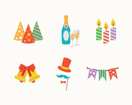 holiday icons: Vector illustrators holiday icons set