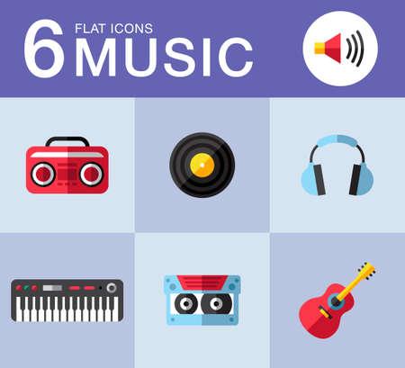 Music planar fashion icons for you Ilustração