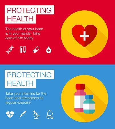 Conjunto de iconos corazón sano ilustración vectorial Heartbeat Foto de archivo - 36056124