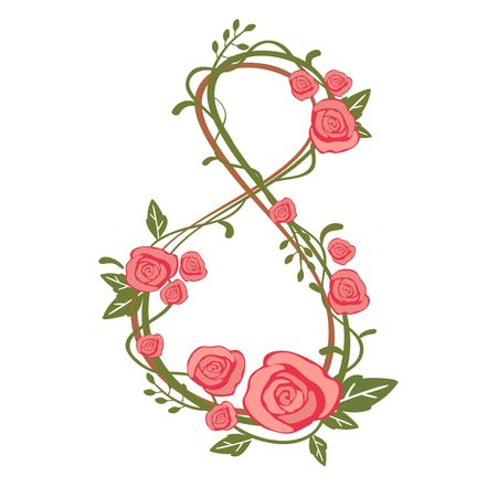 illustrator  vector: 8 march International Womens Day illustrator vector vintage modern concept