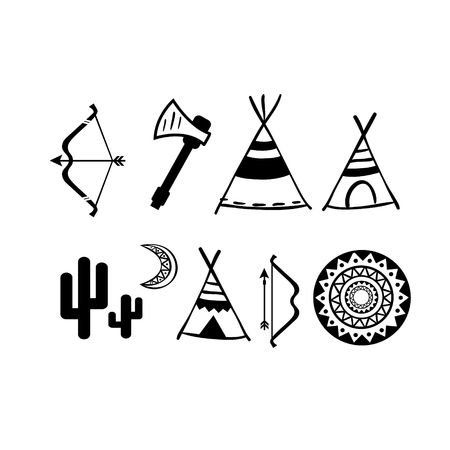illustrator vector: A set of cute hipster arrows, hand drawn doodles illustrator vector modern concep