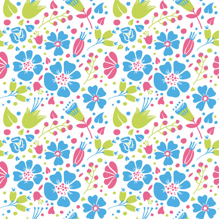pastel shades: Flowers and paisley background is pastel shades vector seamless