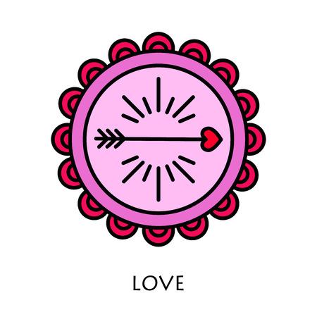 saint valentine s day: Cupidon arrows. Vector icon modern line style illustrator