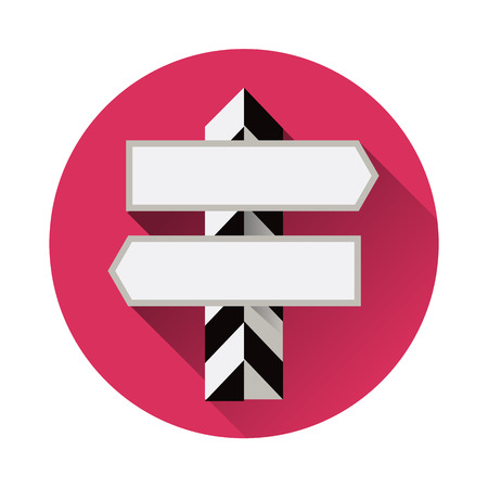 blank road sign: Blank road sign. Vector flat in a modern style pointer road Illustration