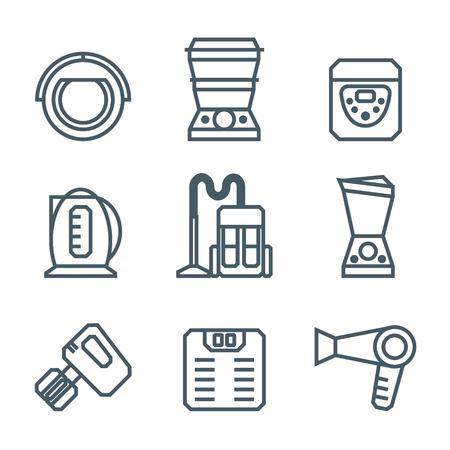 iron fan: Home appliances modern linear modern concept vectors icon
