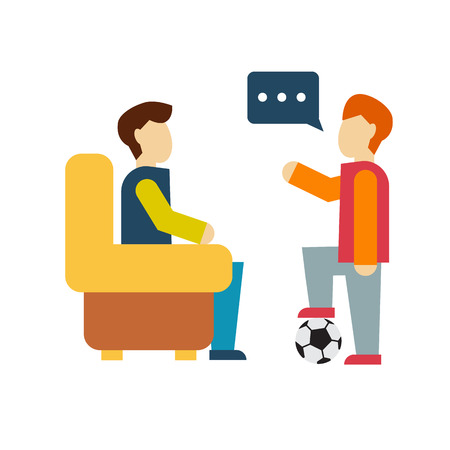 buddies: Friends and friendly relationship social team flat icon isolated vector illustration Illustration