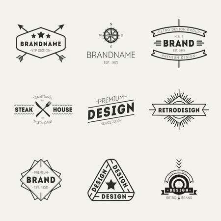 logotypes: Retro Vintage Insignias or Logotypes set. Vector design elements, business signs, logos, identity, labels, badges and objects.