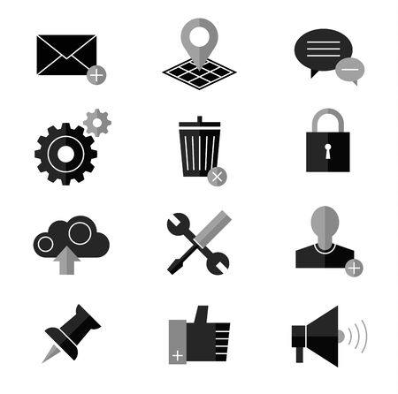 rubbish cart: SEO and internet vector icon. Web and website icons set