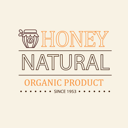Vector set of honey and bees labels, badges and design elements Vector