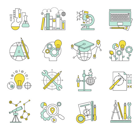 marktforschung: Flache Design-Konzept Symbole auf Marketing-Thema. Symbole f�r Internet-Marketing, Design-Entwicklung, Fotografie, Marktforschung, soziales Netzwerk, Planung, Brainstorming Ideen, Kreativit�t. Illustration