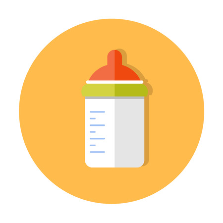 nappies: flat design cute baby vector icon illustration