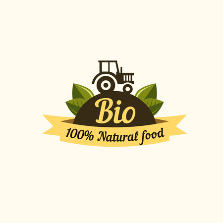 veggie: Set of badges and labels elements for organic food and drink. Organic, bio, natural, eco, logo vector