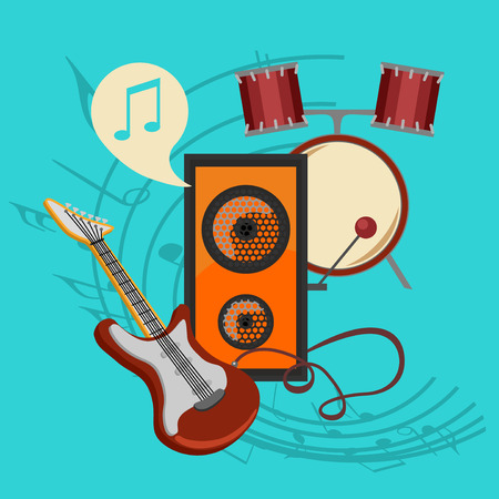 bast: bast set music icon collection the best deal for your design Illustration