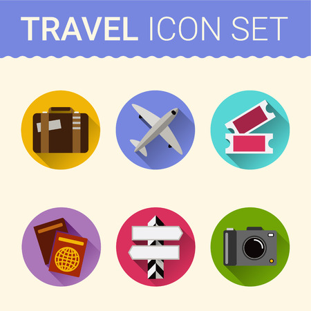 organized: travel icon vector file Flat style.Vektor organized in layers for easy editing.