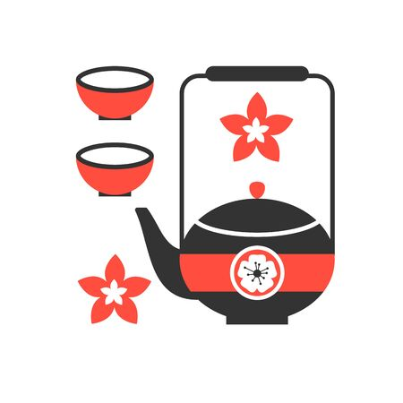 tea ceremony: tea ceremony icon vector illustration modern flat style