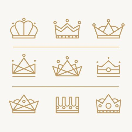Crown icons modern design lines of different forms Stock Vector - 37448198