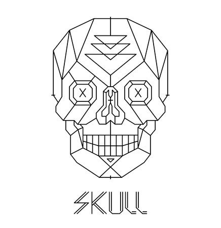 calaveras: Cráneo abstracto aislado en un blanco antecedentes vector Vectores