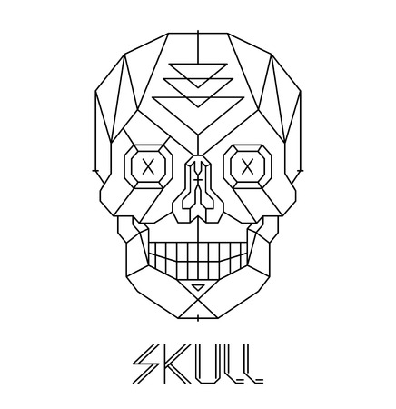 skull vector: Skull abstract isolated on a white backgrounds vector