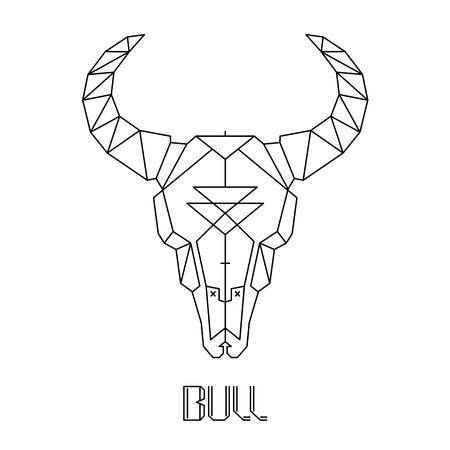 craneo de vaca: toro cr�neo, vaca cr�neo del vector de impresi�n en la camiseta