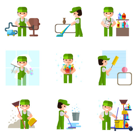 cleaning: Company, vector icon, professional cleaning flat design