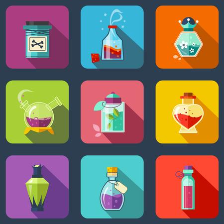 elixir: Elixir m�gico transparente en diferentes colores con un tap�n de madera.