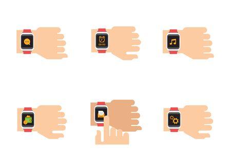 chronograph: Smartwatch icons.