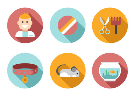 a snake in a bag: Web icon set Pet, vet, pet shop Illustration