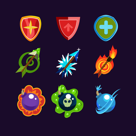 weaponry: Game resources, weapon icons set