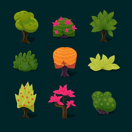 cilp: illustration of isolated set of tree on white background Illustration