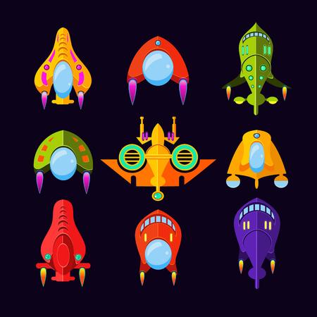raumschiff: Fliegende Untertasse, Raumschiff und UFO Set.