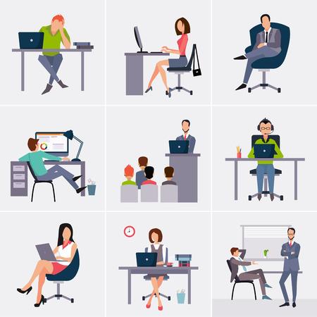 proceso: Procesos de negocio infografías elementos. Brainstorm, gran idea, consultoría, sociedad, contrato. Estilo Flat. Vectores