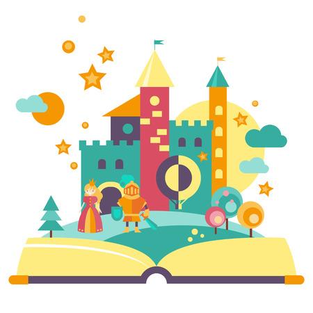 Verbeelding concept van open boek Stock Illustratie