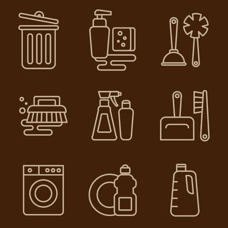 Eenvoudige reeks van het schoonmaken verwante pictogrammen voor uw ontwerp Stockfoto - 40497927