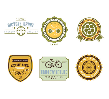 themed: Typographic Bicycle Themed Label Design Set - Bike Shop and Service