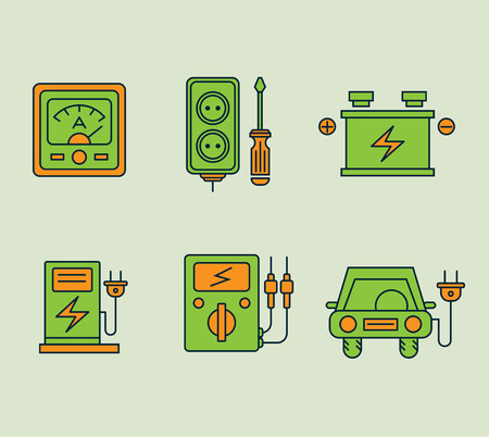 antipollution: Ecological icons set, Eco, bio and environment. Conservation of energy