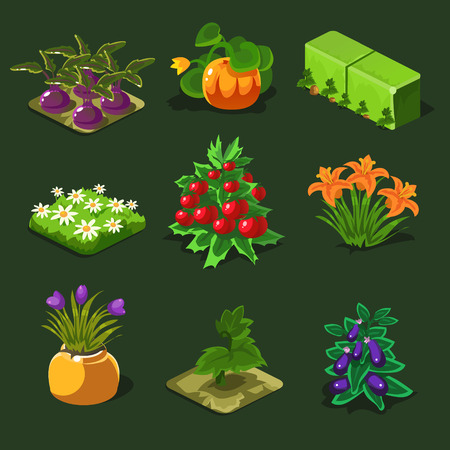 cultivation: Farm of a bed and other elements for game