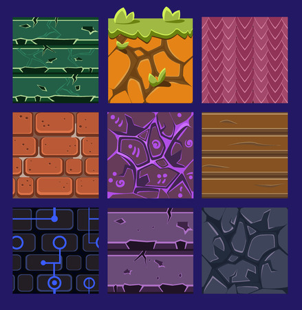 game: Different materials and textures for the game.  Illustration