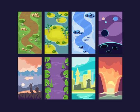 summer game: Game background seamless set