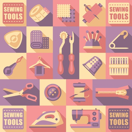needlework: Sewing tailoring and needlework decorative icons set isolated vector illustration