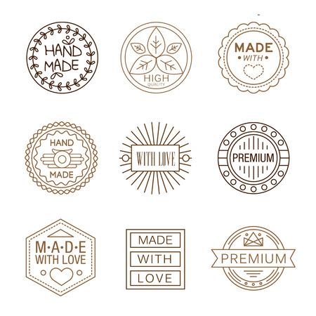 logotypes: Retro design insignias logotypes , hand made, Vector vintage elements.