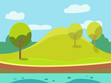Game background Vector  set illustration in modern style for different use