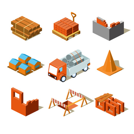 web crawler: Construction project info graphic,detailed isometric vector illustration