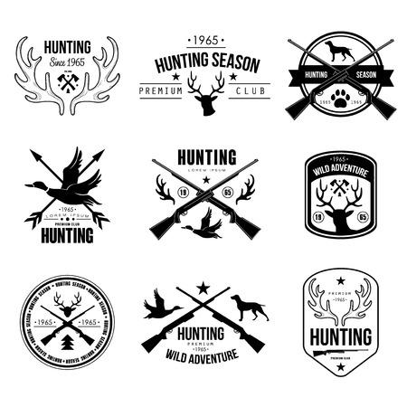 Badges Labels Logo Design Elements Stock Vector Handmade jacht authentieke handgetekende graphics