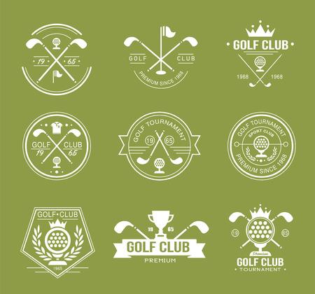 Set van golfclub logo's, etiketten en emblemen vector