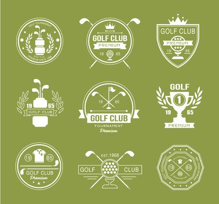 golf  ball: Conjunto de golf del club logotipos, etiquetas y emblemas vector Vectores