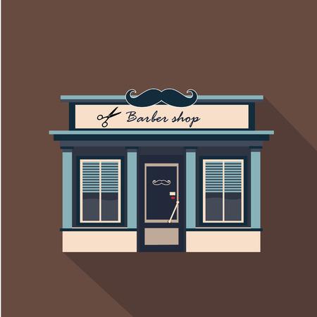Restaurants et commerces façade, vecteur de vitrine design plat détaillé Banque d'images - 42730226
