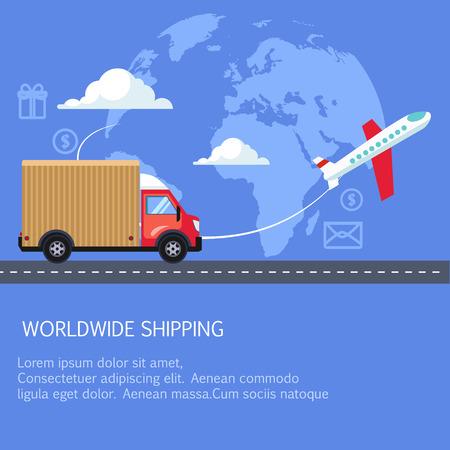 ビジネスに供給と配送の物流サービス。  イラスト・ベクター素材