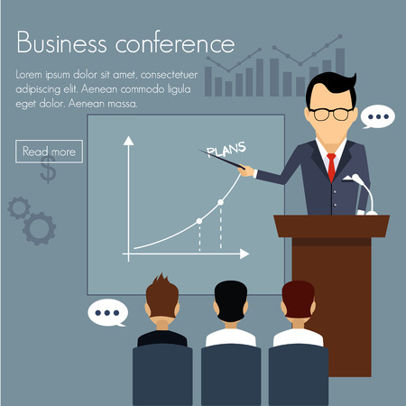 partnership: Banners template set. Conference presentation partnership. Web illustration. Website infographics elements. Illustration